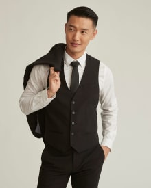 Wool-blend suiting vest