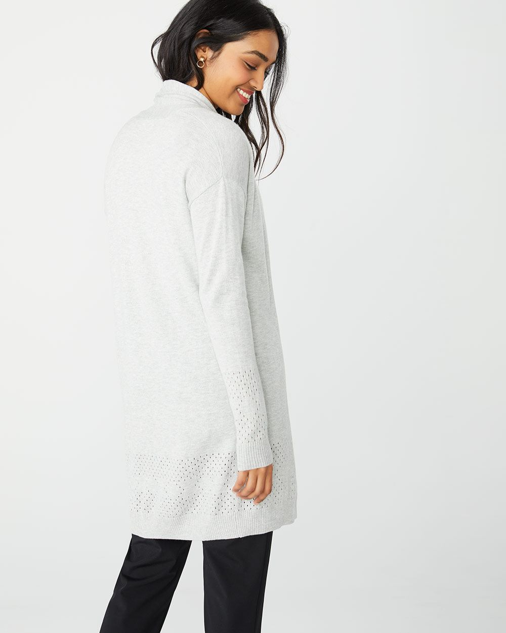 C&G Open-front cardigan with pointelle