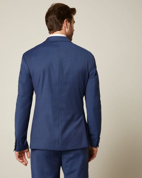 Essential Athletic Fit blue wool-blend suit Blazer - Short