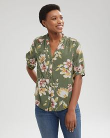 Short Puffy Sleeves Blouse