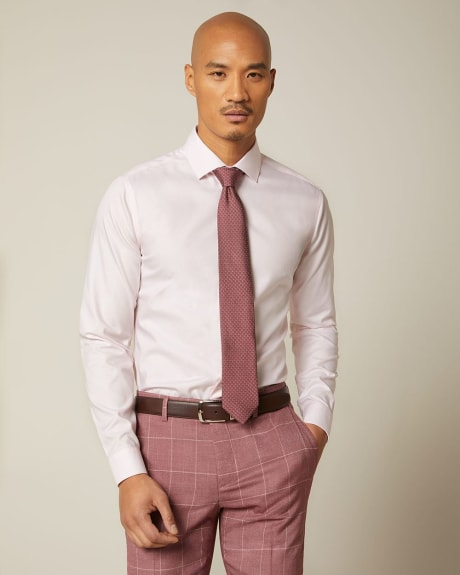 Slim fit pastel dress shirt