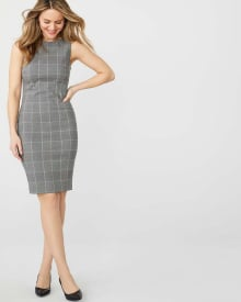 Windowpane Sheath City dress