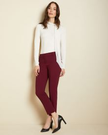 Burgundy Signature fit Slim Leg Ankle Pant