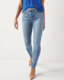 High-rise Skinny Yoga Jeans TM in medium wash denim