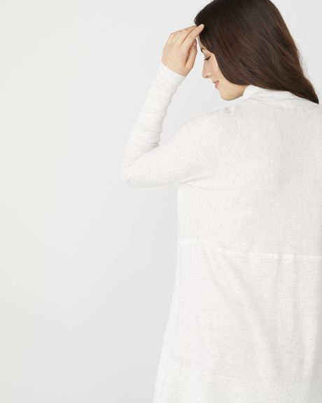 C&G textured knit cocoon cardigan
