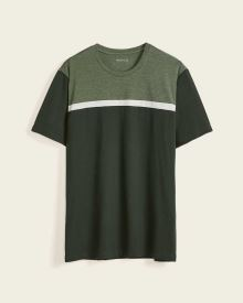 Short Sleeve Colour Block Crew-Neck T-Shirt