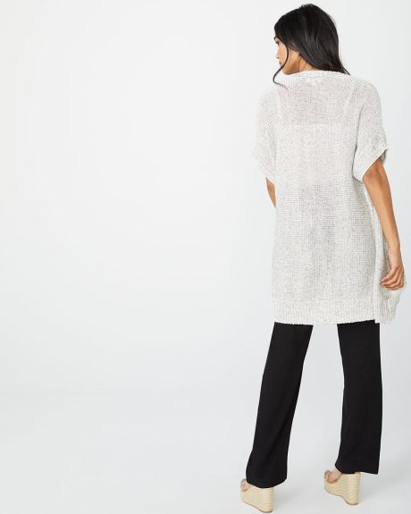 C&G Speckled Elbow sleeve cardigan