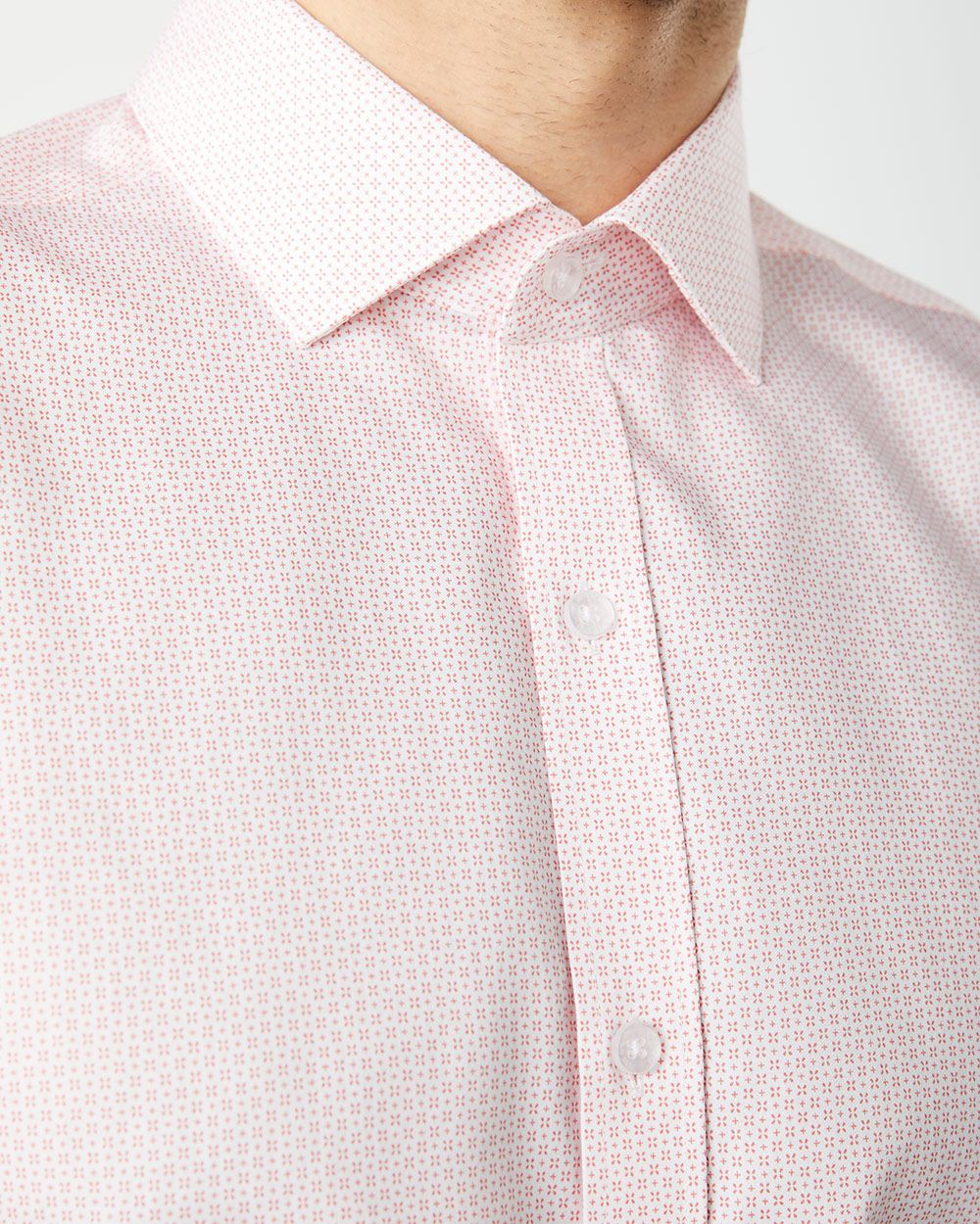 Athletic Fit cross pattern Dress Shirt