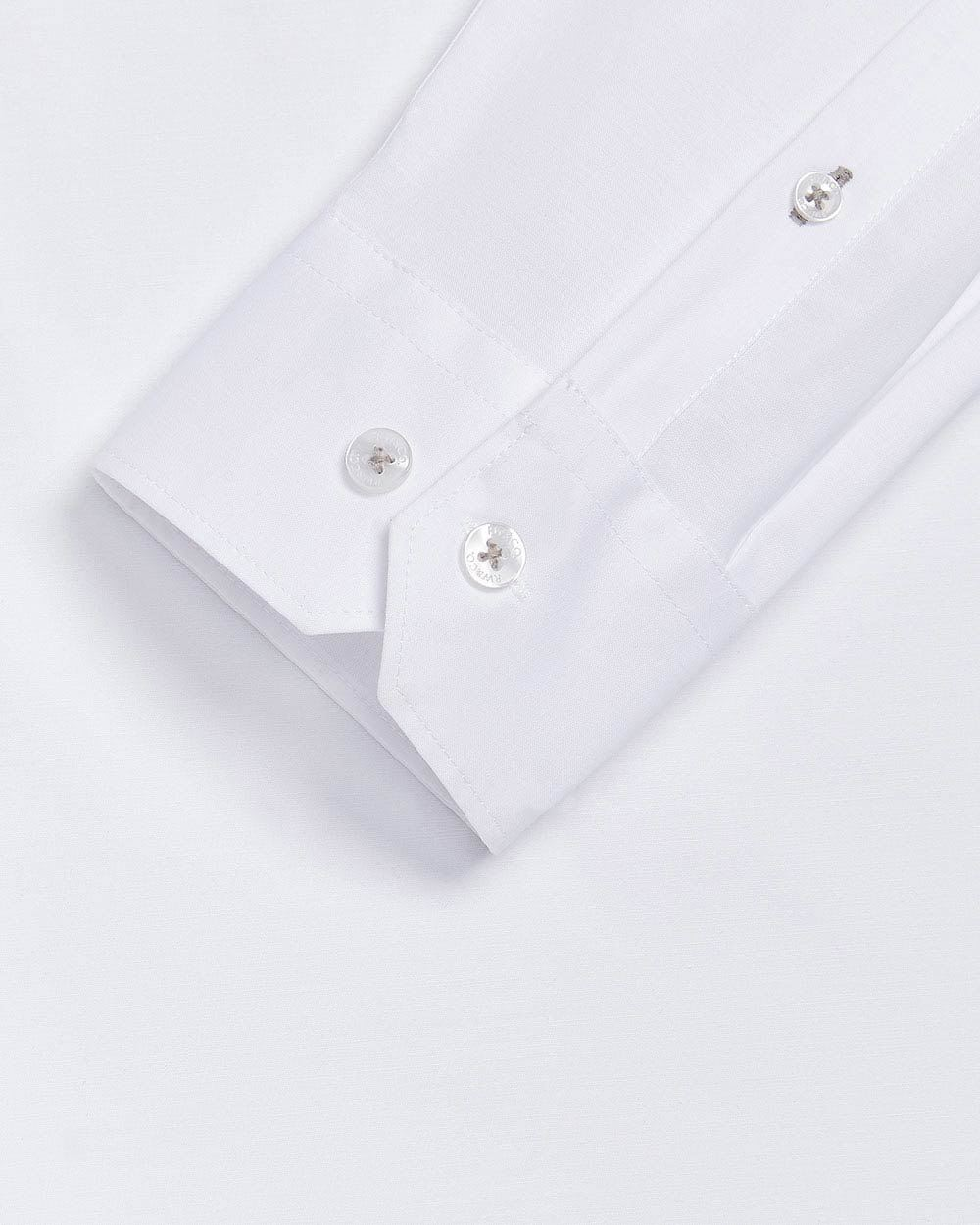Tailored Fit white performance dress shirt