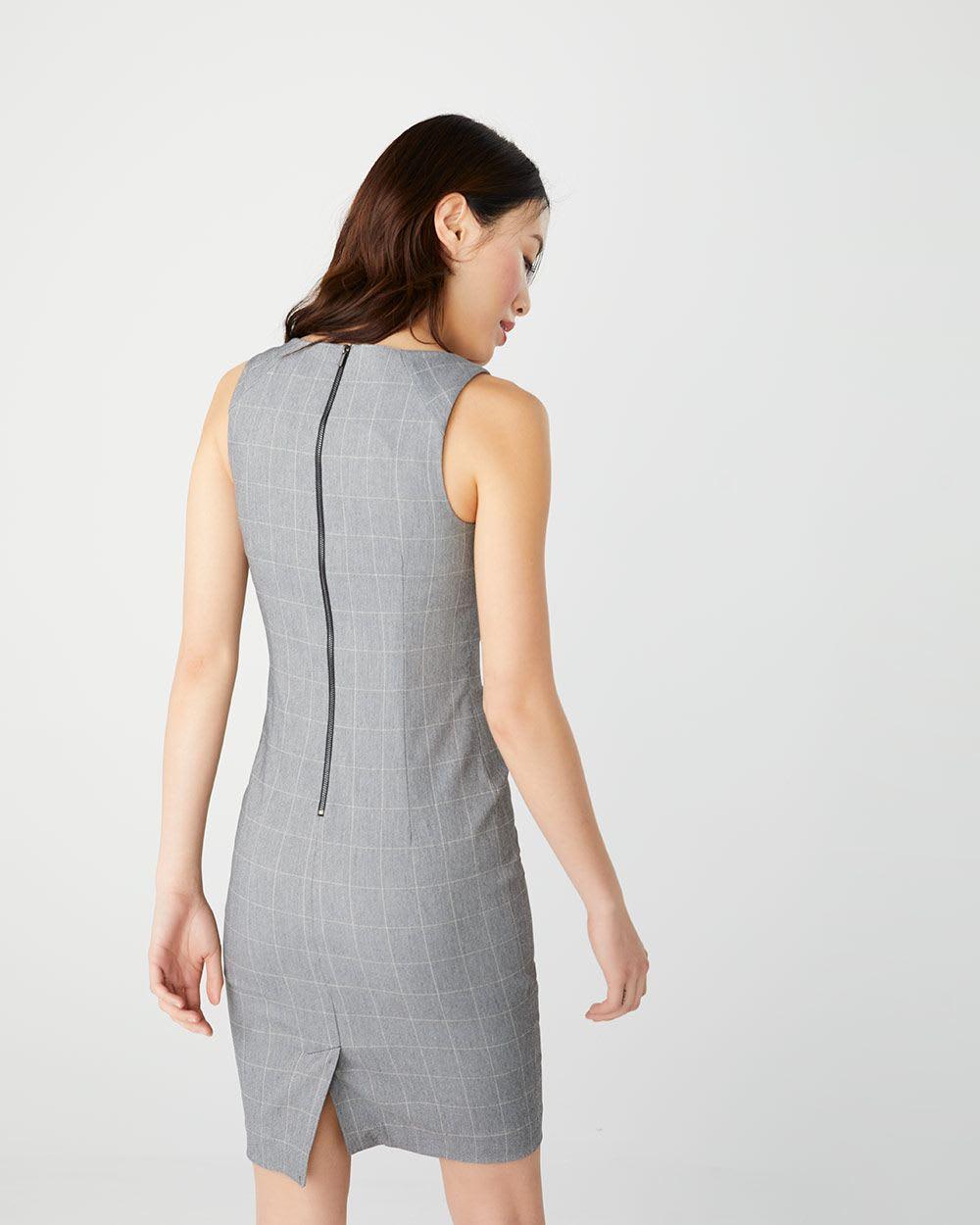 8f8480e02f9 Fitted grey windowpane City dress