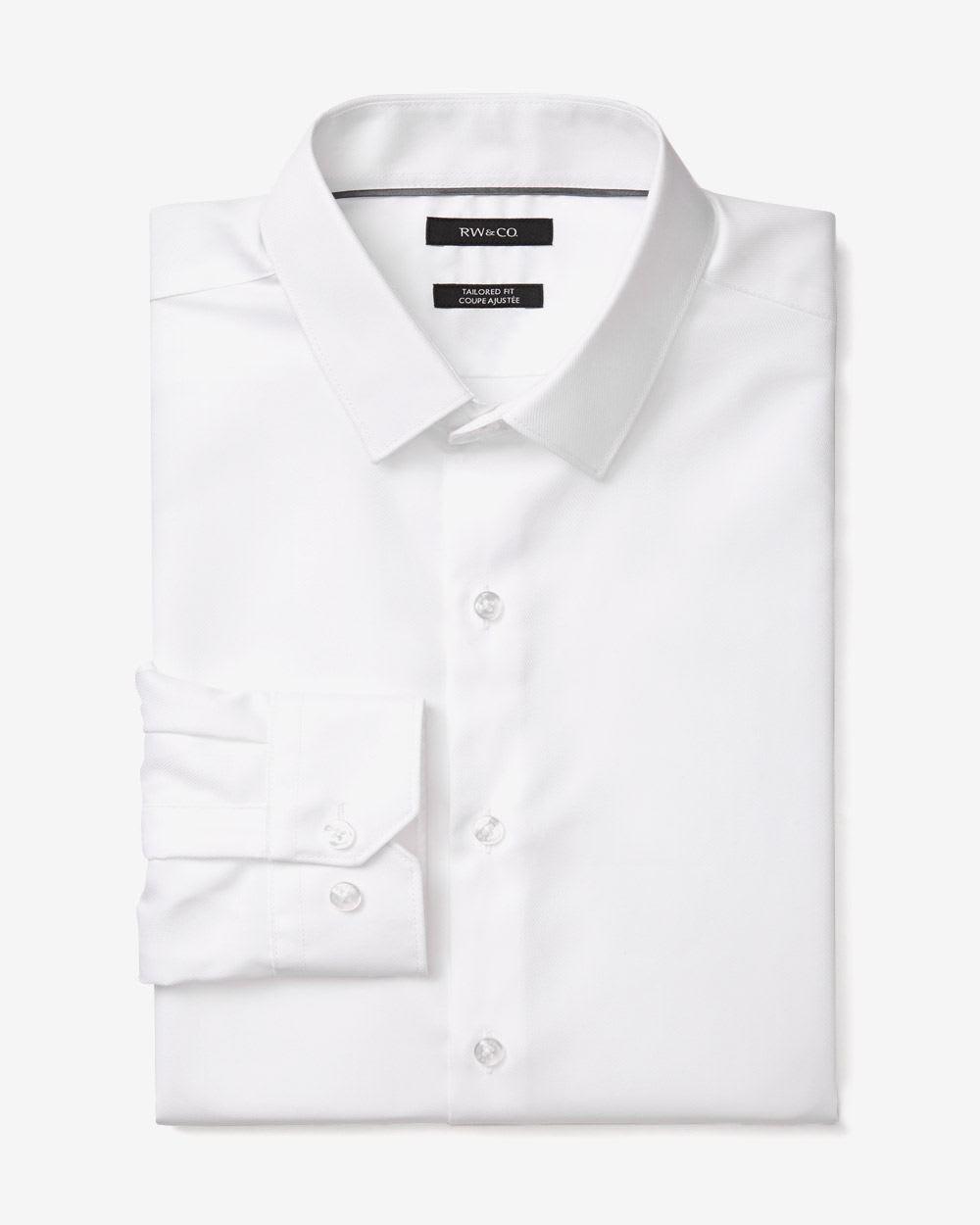 Tailored Fit Dress Shirt Short Rw Co