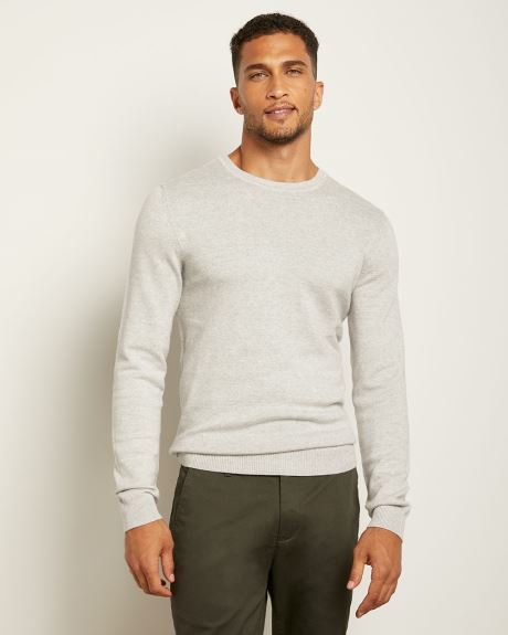 Crew-Neck Jersey Knit Sweater