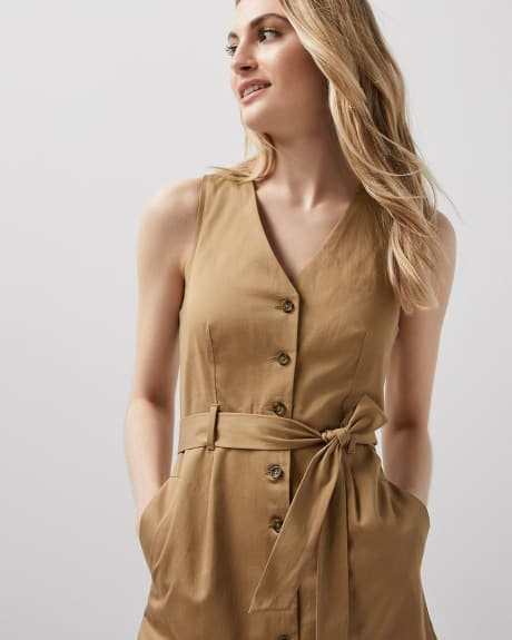 Button-down shirtdress