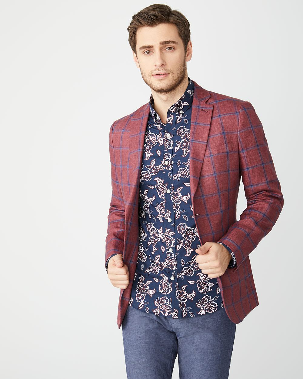 Slim Fit bold floral Shirt