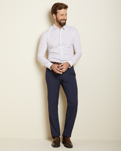 Tailored fit Navy windowpane check City Pant