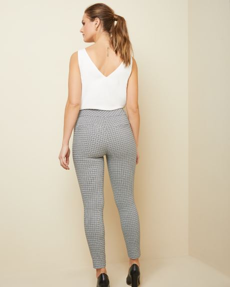 C&G Mini blue check City legging pant - 28''