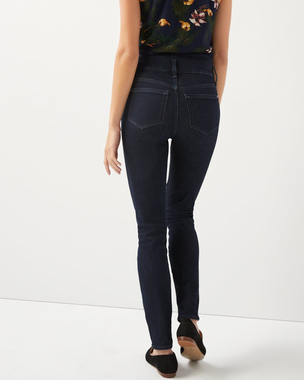 Ultra High-rise extreme 360 dark wash skinny jeans