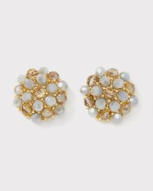 Glass cluster stud earrings