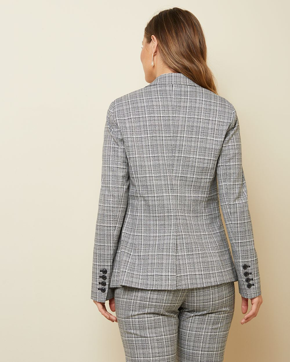 textured plaid Fitted blazer