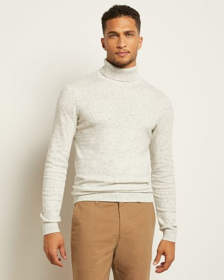 Nepped Turtleneck Sweater
