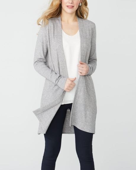 C&G Jersey knit open-front cardigan