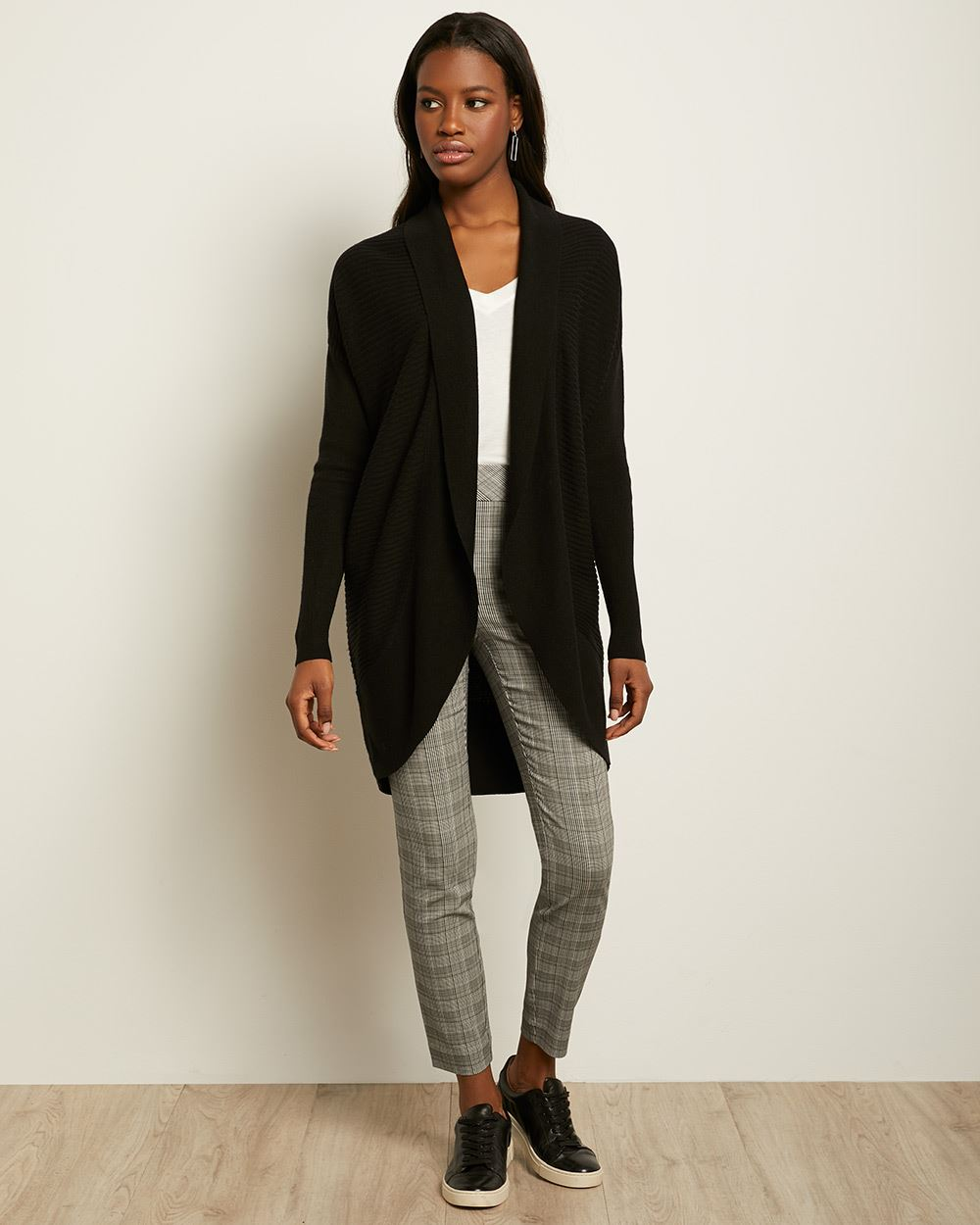 C&G Ribbed Cocoon Cardigan