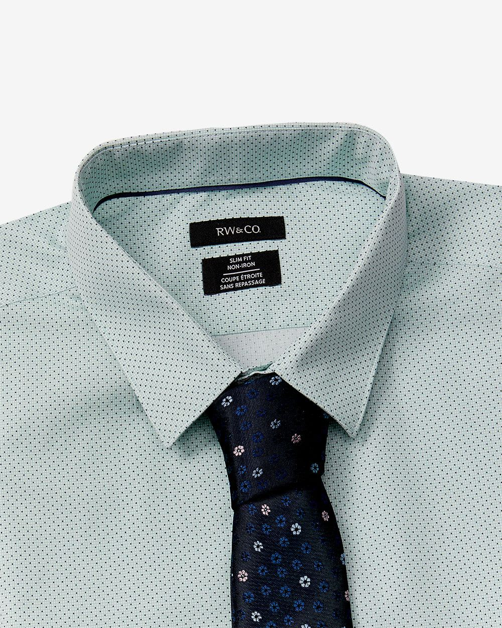 slim fit Micro dots dress shirt