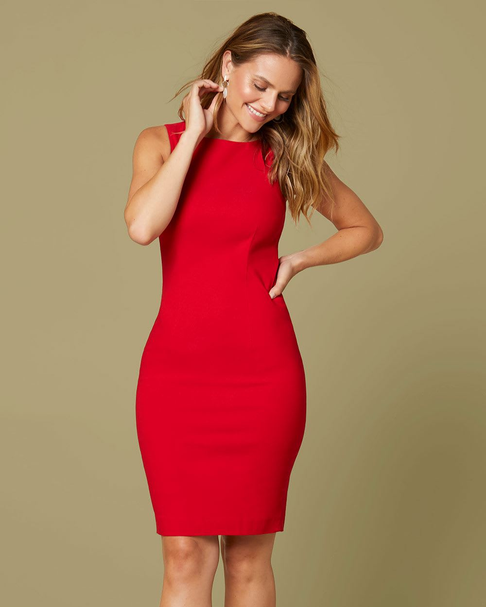cherry red Sheath City dress