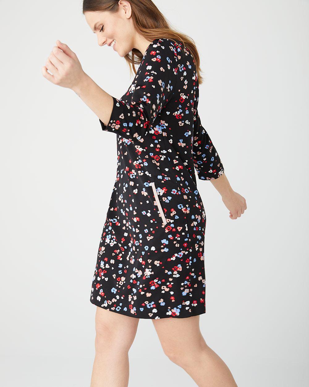 5538cc363b5e05 Floral shift dress | RW&CO.