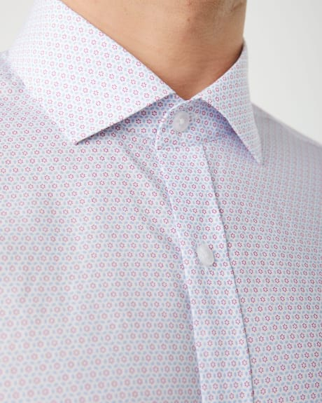 Slim Fit two-tone geo pattern dress shirt