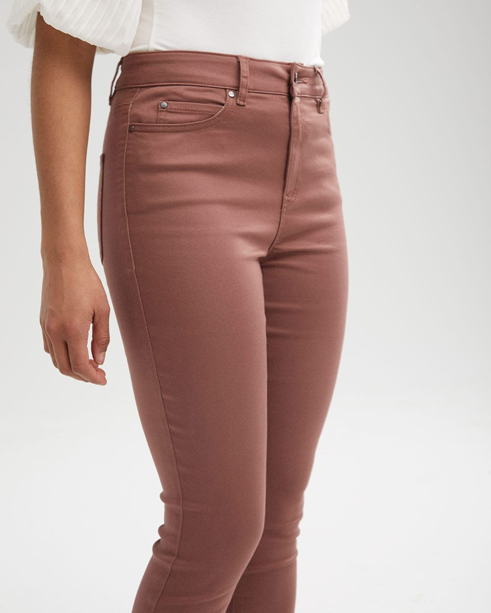 High-Waisted Natalie Jegging in Coloured Denim - 32''