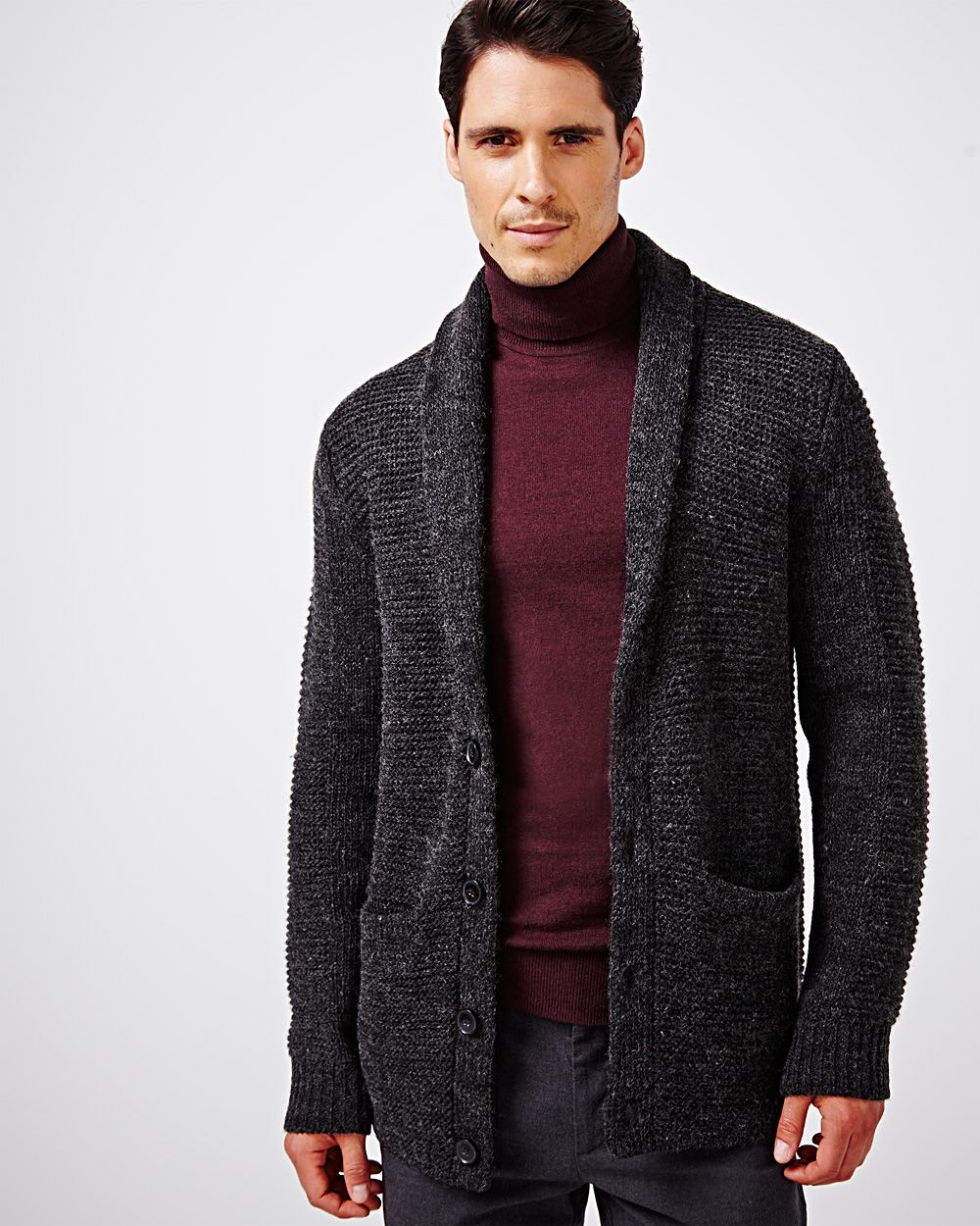 Long shawl collar cardigan | RW&CO.