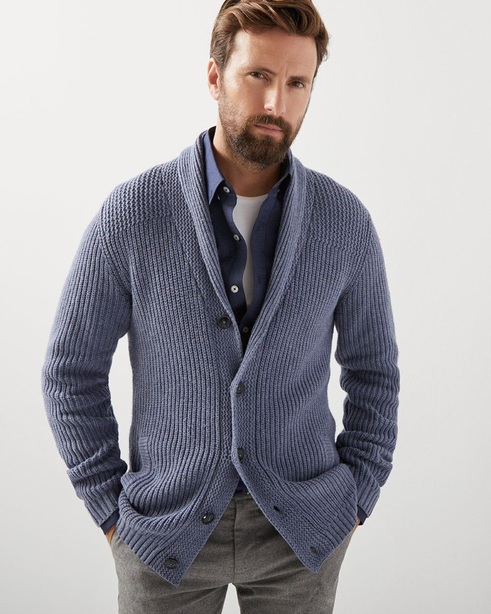 Shawl Collar Cardigan Rwco