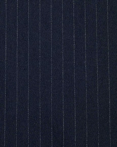 Navy Pinstripe Pencil City Skirt - 21''