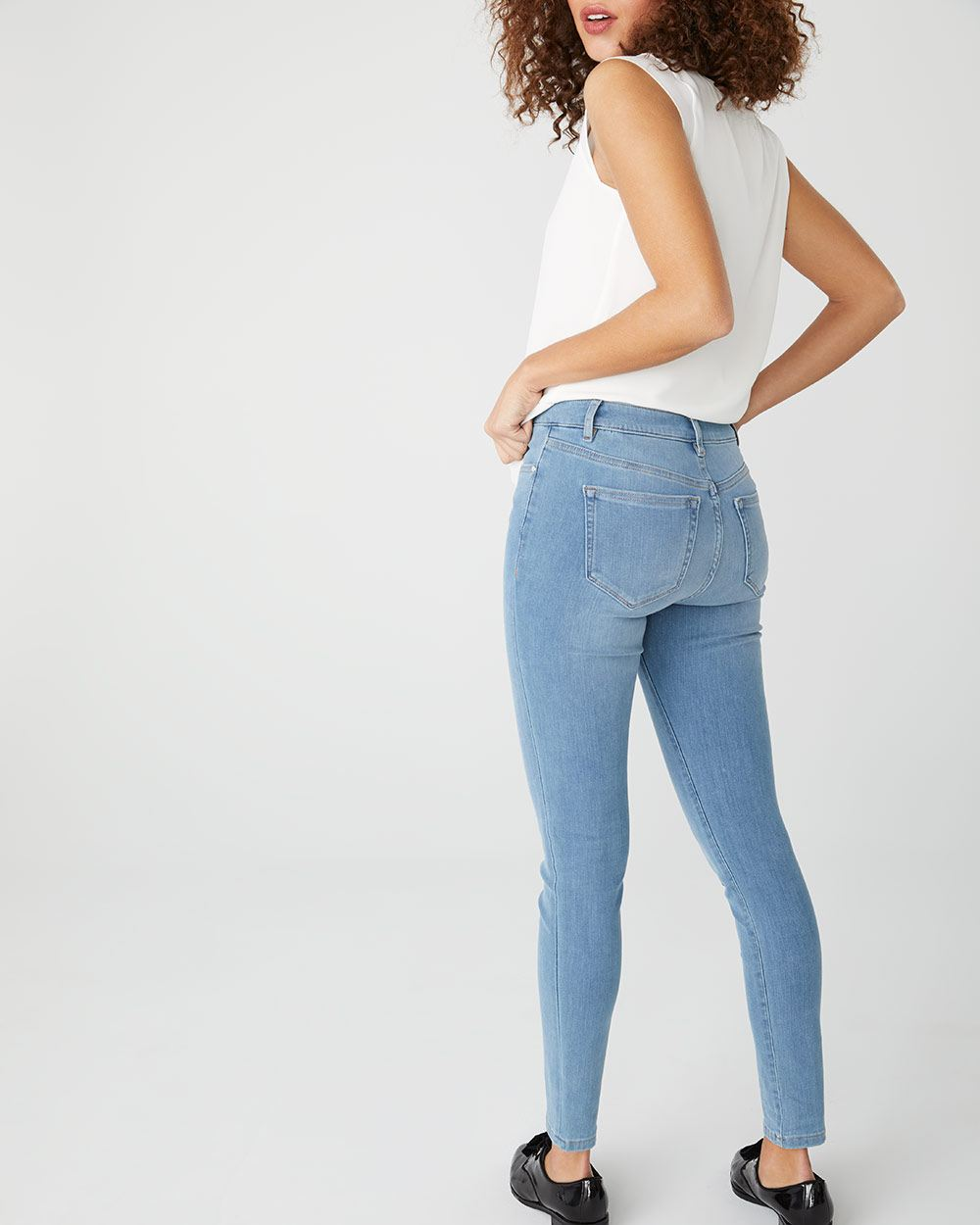 High-rise extreme 360 stretch light wash Skinny jeans