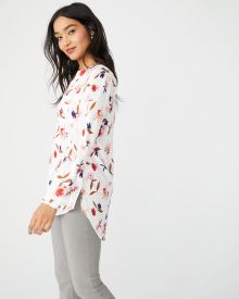 C&G Printed stretch Challis tunic blouse