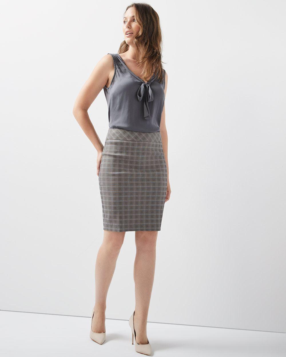 b11b1a4e1ef928 C&G Plaid City Pencil Skirt | RW&CO.