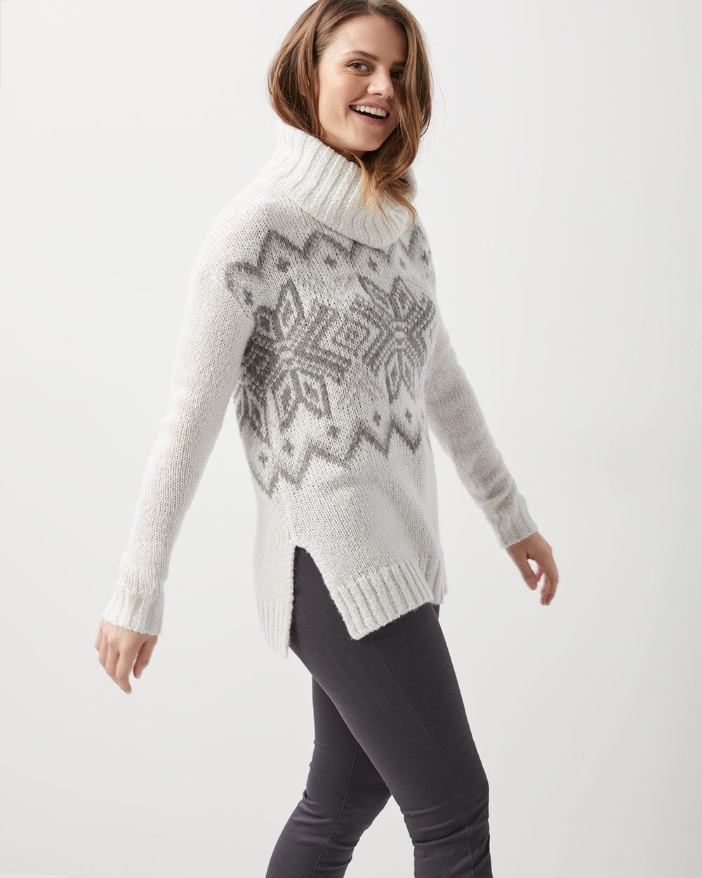 Fair isle loose-fit sweater