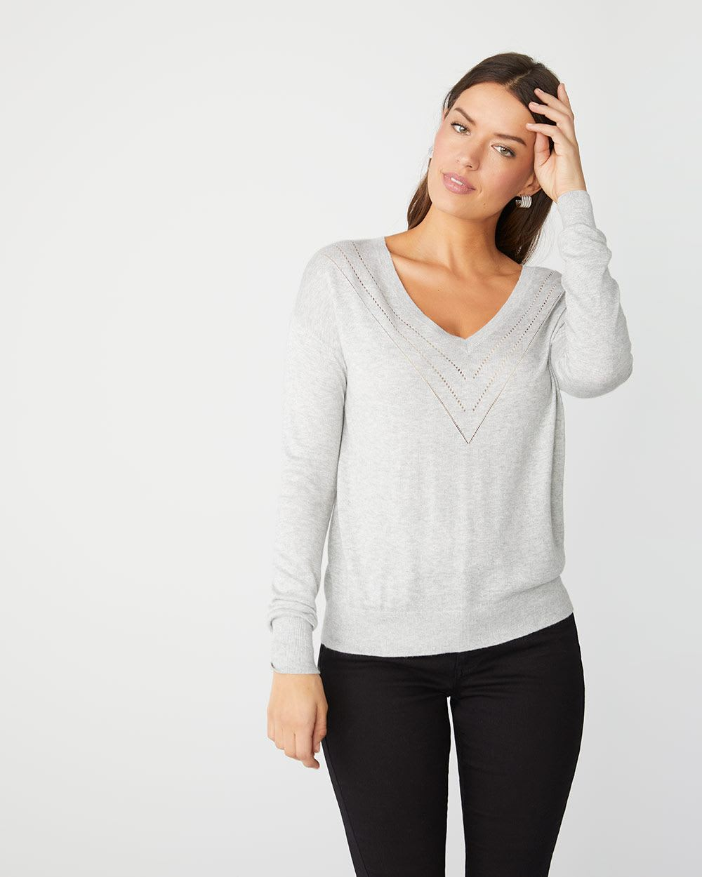 Relax Fit Lightweight Cashmere-like sweater
