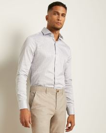 Slim Fit Double-Triangle Dress Shirt
