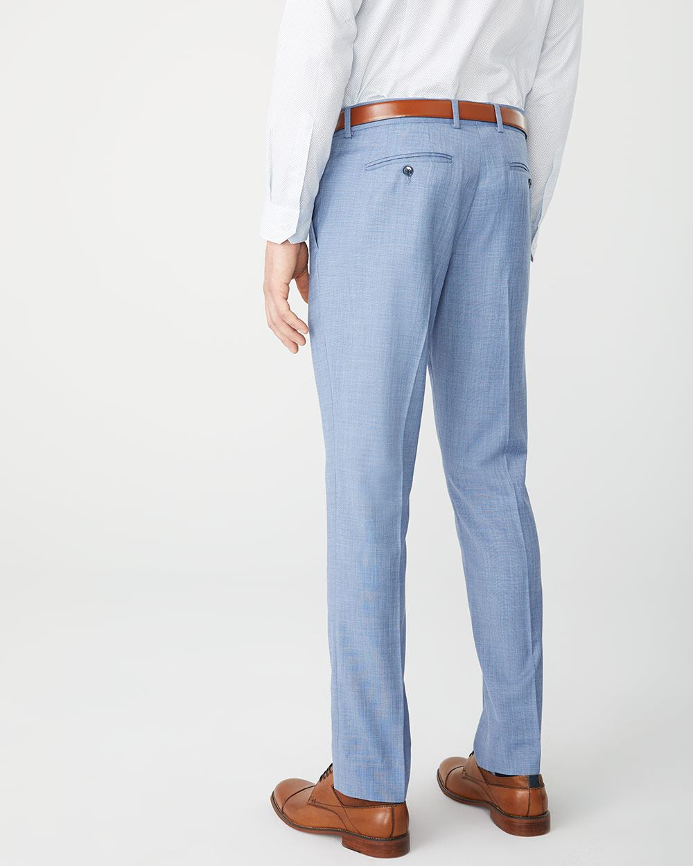 Slim Fit two-tone light blue suit pant