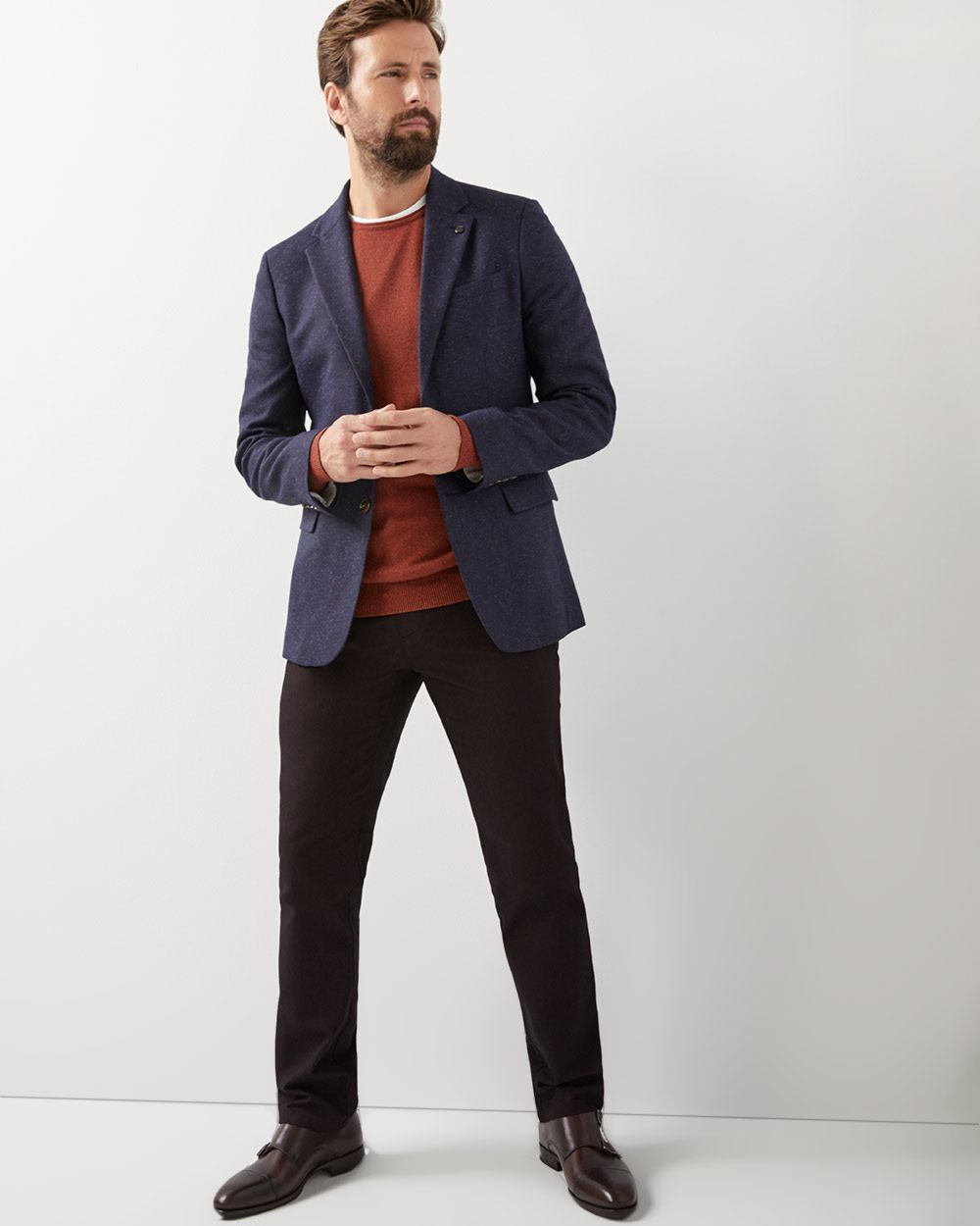 Slim fit Nep-yarn blazer