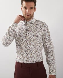 Slim Fit Floral Dress Shirt