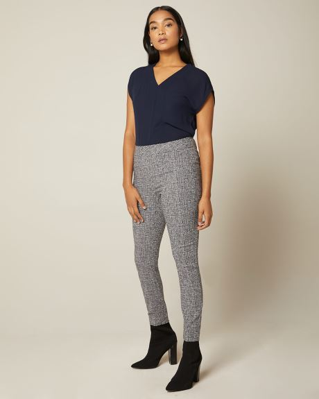 C&G Navy crosshatch City legging pant - 28''