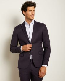 Slim Fit Dark Purple Suit Blazer