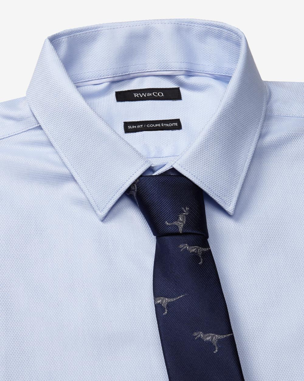 Tailored fit dress shirt with french cuff rw co for Tailored fit dress shirts