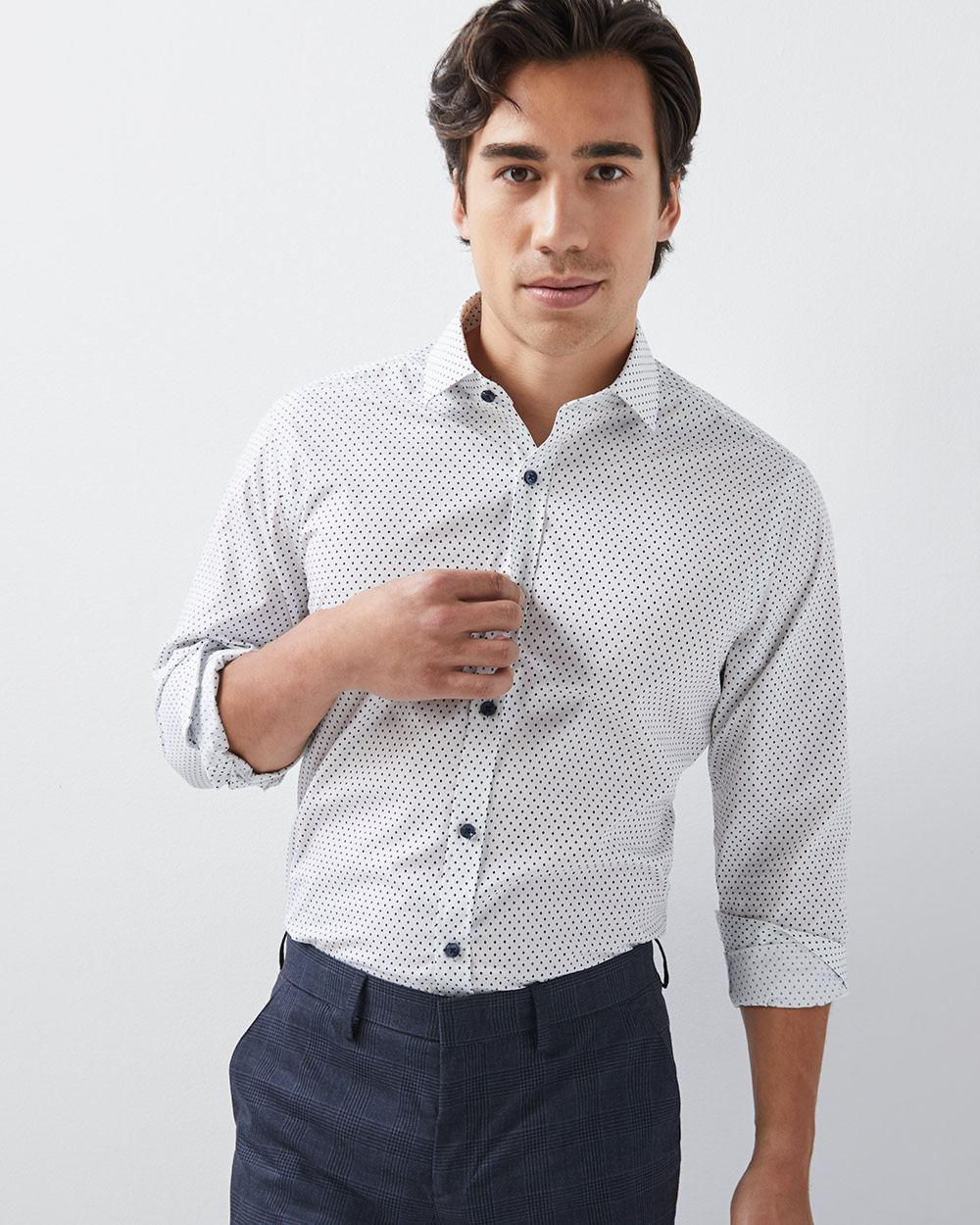 Athletic Fit Triangle Print Dress Shirt Rwco
