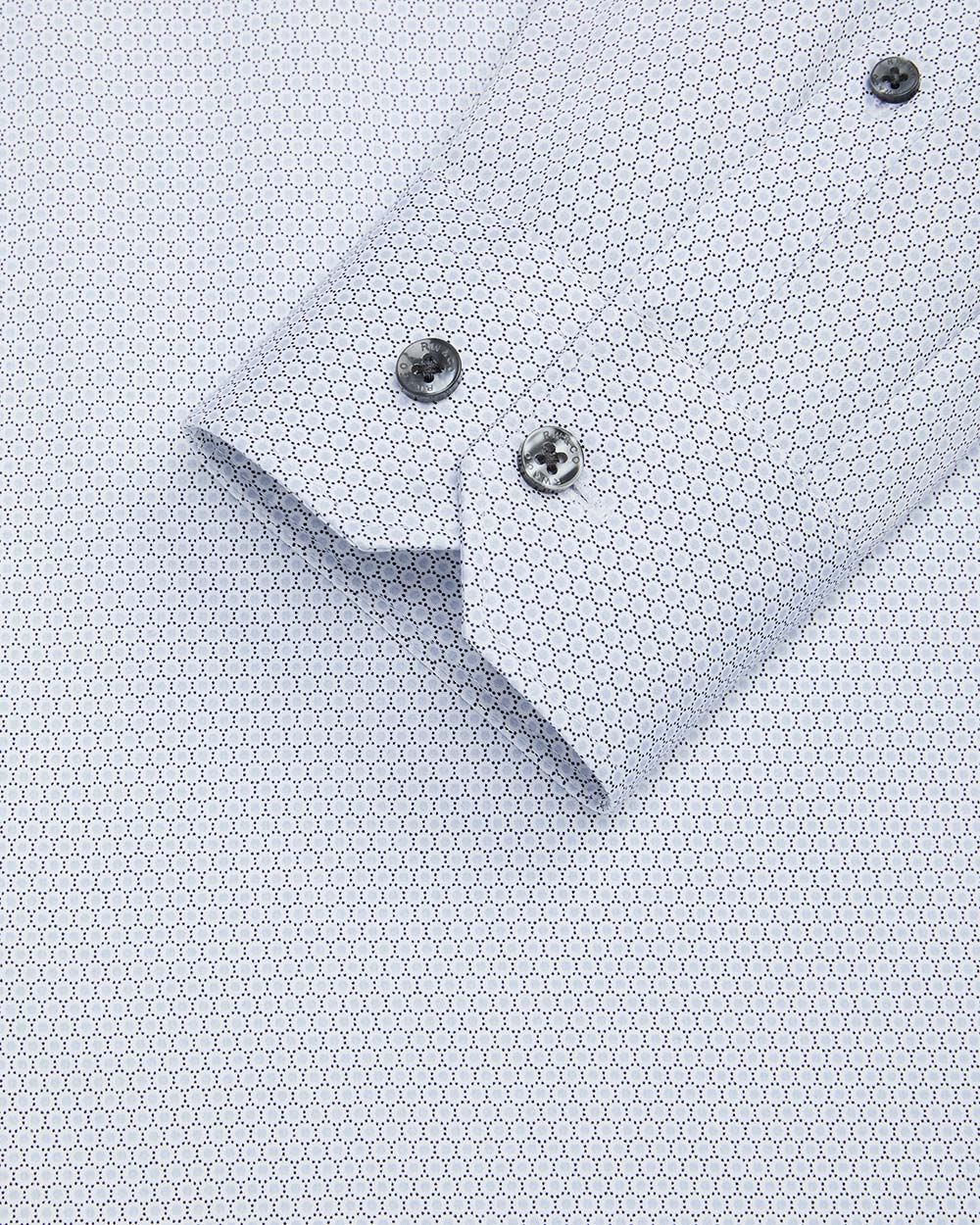 Slim fit dotted dress shirt