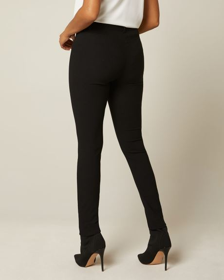 Buttoned High-waist legging pant