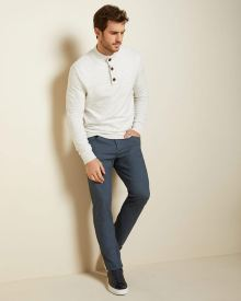 Slim fit brushed twill 5-pocket pant